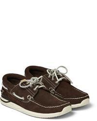 VISVIM Hockney Suede Boat Shoes