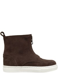 Dark Brown Suede Boots