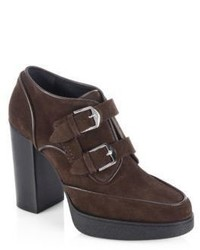 Tod's Double Monk Suede Boots