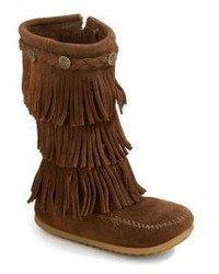 Minnetonka Toddlers Kids Three Layer Fringe Boots