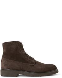 Ermenegildo Zegna Suede Brogue Boots