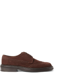 Etro Leather Trimmed Suede Brogues