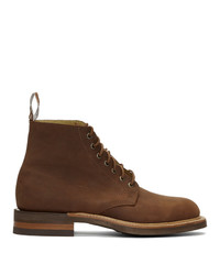 R.M. Williams Brown Oily Fern Rickaby Boots