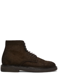 Officine Creative Brown Suede Hopkins 107 Boots