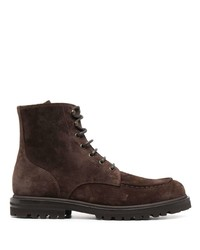 Brunello Cucinelli Lace Up Suede Boots
