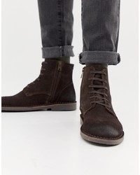 Selected Homme Suede Lace Up Boot On Crepe Sole