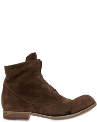 Officine Creative Washed Suede Lace Up Boots