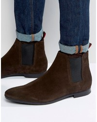 Hugo Boss Boss By Paris Suede Chelsea Boots