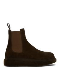 Alexander McQueen Brown Hybrid Chelsea Boots