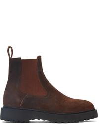 Diemme Brown Suede Alberone Chelsea Boots
