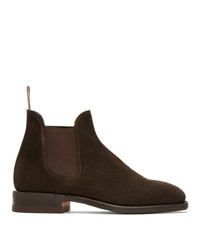 R.M. Williams Brown Suede Sydney Chelsea Boots