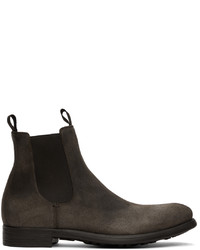 Officine Creative Grey Suede Chronicle 2 Chelsea Boots