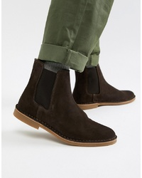 Selected Homme Suede Chelsea Boot On Crepe Sole