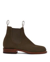 R.M. Williams Taupe Suede Turnout Chelsea Boots