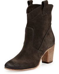 Alberto Fermani Chiara Slouchy Suede Western Ankle Boot
