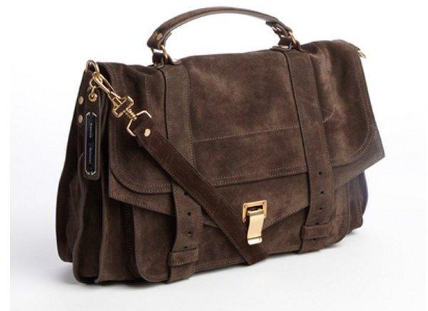6c4751eea8 ... Proenza Schouler Brown Suede Ps1 Mini Pouch Crossbody Bag