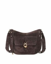 Fiona large suede saddle bag brown medium 4353239