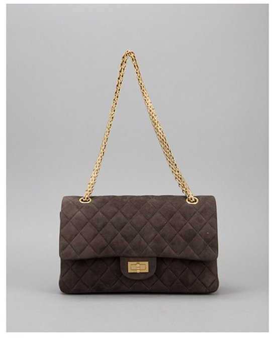 25ff01e34e10e6 ... Crossbody Bags Chanel Pre Owned Brown Suede 255 Reissue 225 Bijoux  Chain Double Flap Bag
