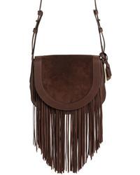 Frye Ray Fringe Leather Saddle Bag