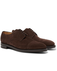 John Lobb Cap Toe Suede Derby Shoes