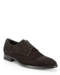 Ermenegildo Zegna Garonne Suede Cap Toe Derby Shoes