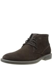 Men's Dark Brown Suede Desert Boots by