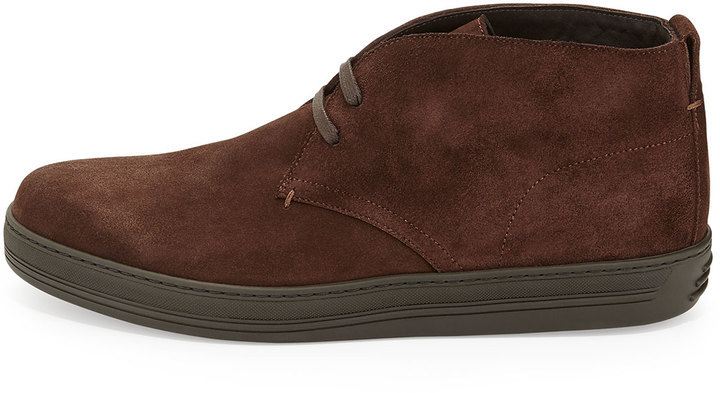 665a05cd8acdf Tom Ford Clarence Suede Chukka Boot Dark Brown, $990 | Neiman Marcus |  Lookastic.com
