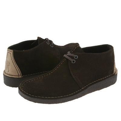 Clarks Desert Trek Lace Up Boots Brown Suede