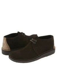 Clarks Desert Trek Lace Up Boots Brown Suede