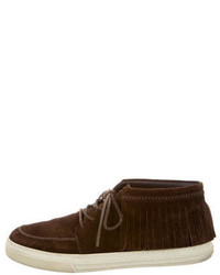 Gucci Fringe Trimmed Suede Chukka Boots