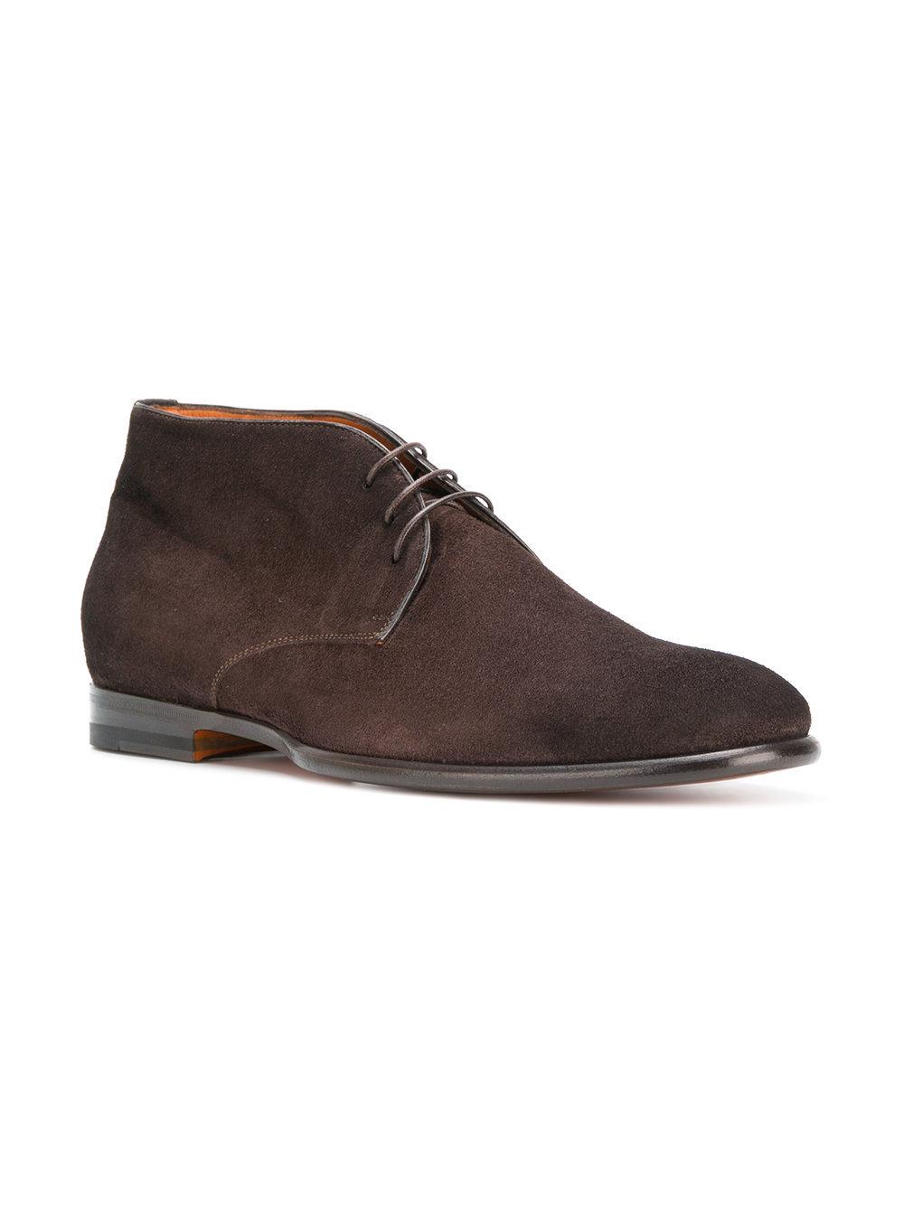 Santoni Lace Up Ankle Boots
