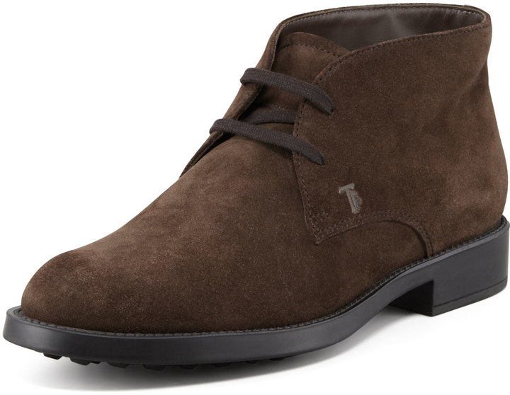 Neiman Boot Up Suede Tod's Marcus 495 Lace Chukka Brown R6qanZw1vx