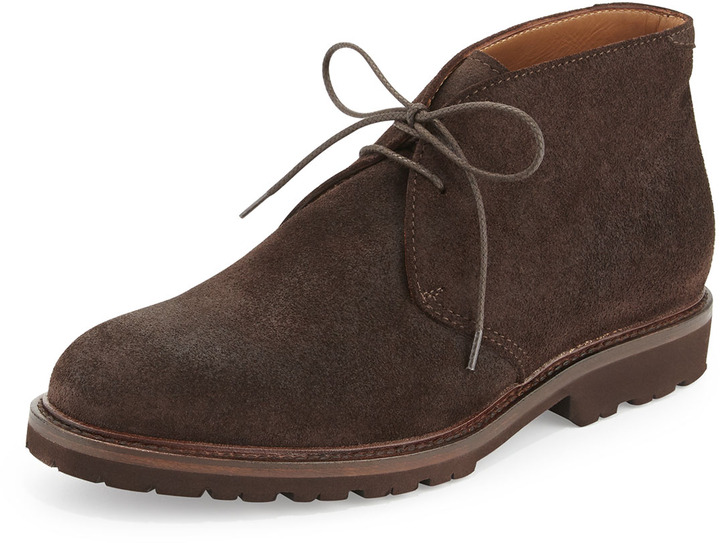 Brunello Cucinelli Waxed Suede Chukka Boot Dark Brown | Where to ...