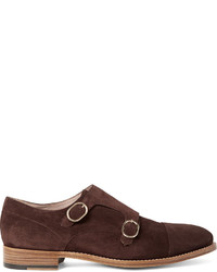 Paul Smith Atkins Suede Monk Strap Shoes