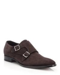 Ralph Lauren Gavrie Suede Double Monk Strap Shoes