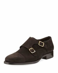 Tom Ford Wessex Suede Double Monk Shoe