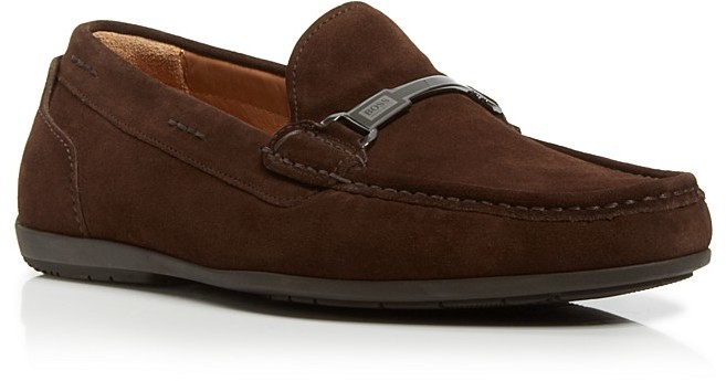 2b767a83abc ... Dark Brown Suede Driving Shoes Hugo Boss Boss Flarro Suede Drivers ...