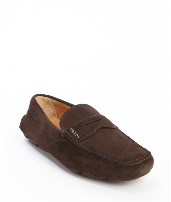 Brown suede loafers high quality online DCNKzl