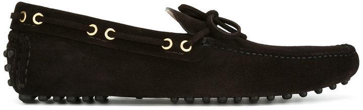 gold-tone trim loafers - Brown Car Shoe Q8qAuA