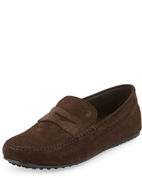 Suede gommini penny driver brown medium 585899