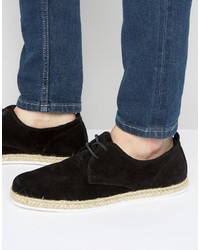 Zign Shoes Zign Suede Lace Up Shoes With Espadrille Detail