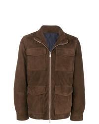 Eleventy Cargo Pocket Zip Jacket