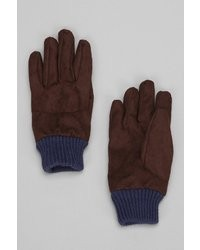 UO Colorblock Faux Suede Glove