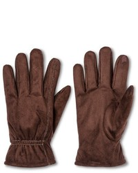 Isotoner Impressions By Smartouch Faux Suede Glove Brown