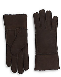 Saks Fifth Avenue Shearling Lined Suede Gloves