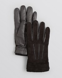 Bloomingdale's The Store At Suede And Leather Palm Tech Gloves 100%