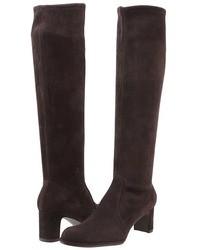 Dark Brown Suede Knee High Boots