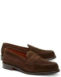 fe86809ff6d Men s Dark Brown Suede Loafers by Brooks Brothers