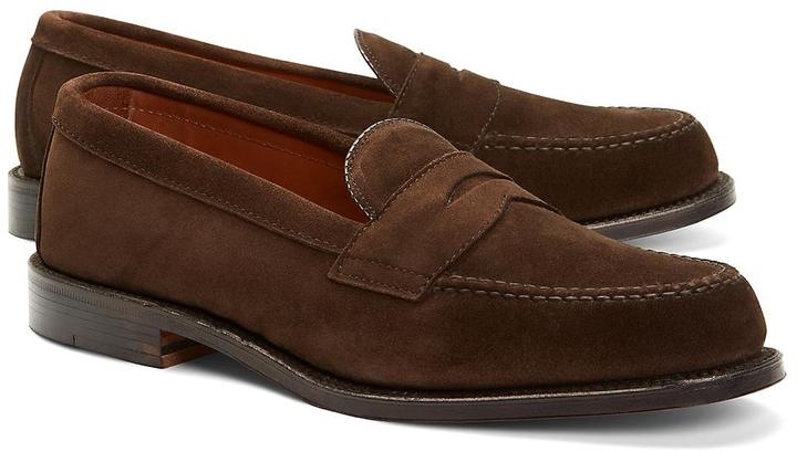 Brooks Brothers Handsewn Suede Penny Loafers | Where to ...