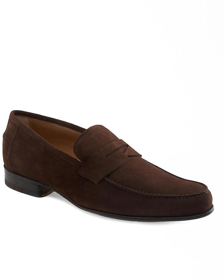cedb68a5238 ... Brooks Brothers Lightweight Suede Penny Loafers ...
